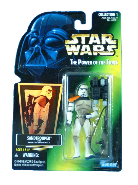 1996 Star Wars POTF2 TATOOINE STORMTROOPER Green Card Complete