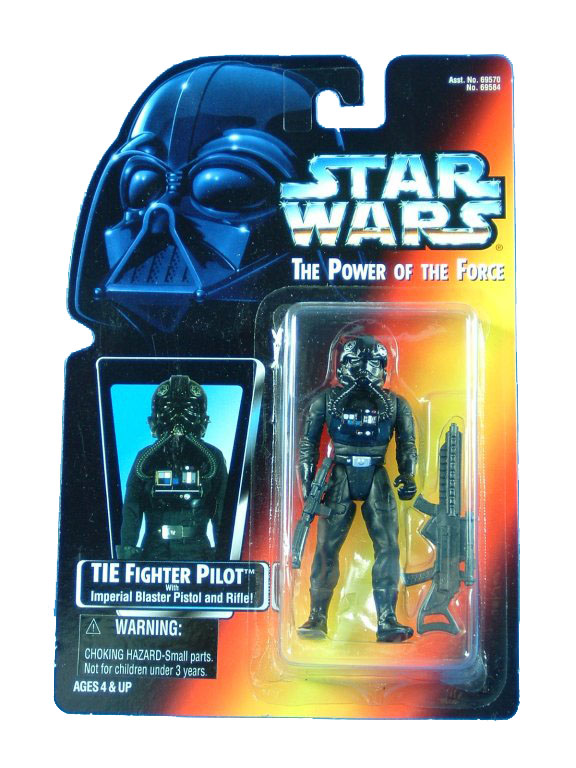 1996 Star Wars POTF2 TIE FIGHTER PILOT Complete