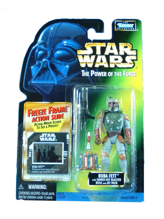 1997 Star Wars POTF2 BOBA FETT Freeze Frame  Complete