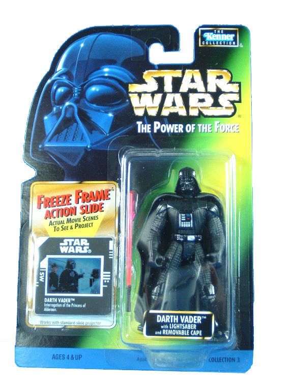 1997 Star Wars POTF2 DARTH VADER Freeze Frame Complete
