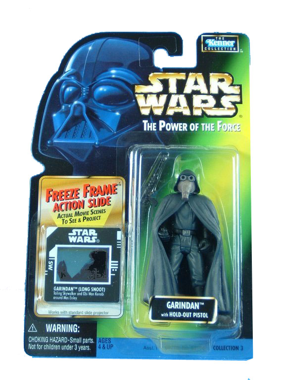 1997 Star Wars POTF2 GARINDAN Long Snoot Freeze Frame Complete