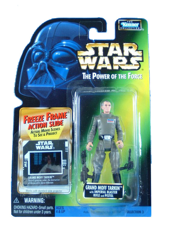 1997 Star Wars POTF2 GRAND MOFF TARKIN Freeze Frame Complete