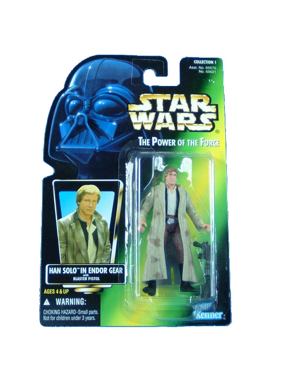 1997 Star Wars POTF2 HAN SOLO ENDOR GEAR Complete