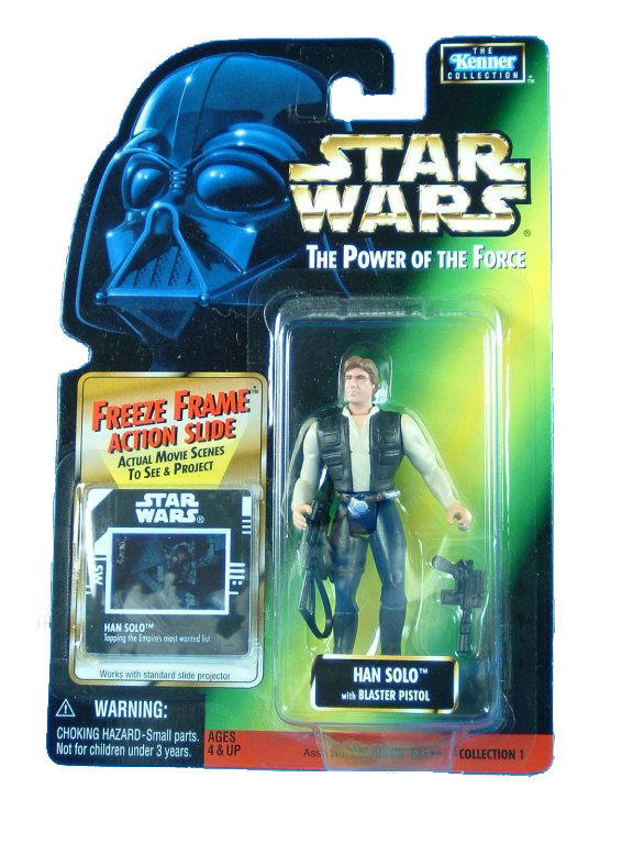 1997 Star Wars POTF2 HAN SOLO Freeze Frame Complete