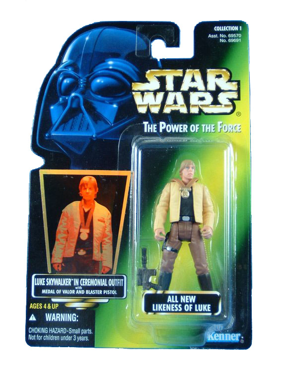 1997 Star Wars POTF2 LUKE SKYWALKER CEREMONIAL OUTFIT Variant