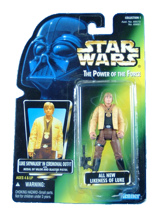 1997 Star Wars POTF2 LUKE SKYWALKER CEREMONIAL OUTFIT Complete