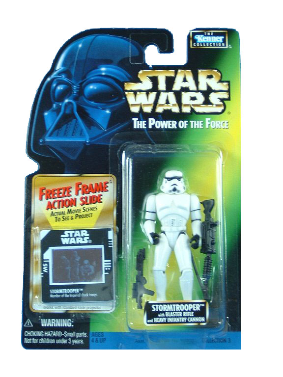 1997 Star Wars POTF2 STORMTROOPER Freeze Frame Complete