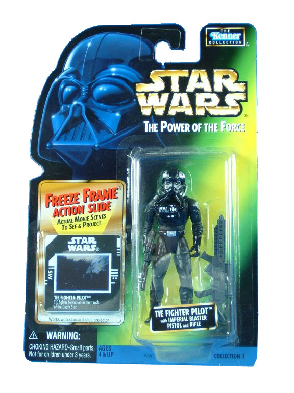 1997 Star Wars POTF2 TIE FIGHTER PILOT Freeze Frame Complete