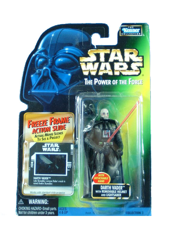 1998 Star Wars POTF2 DARTH VADER REMOVABLE HELMET Complete