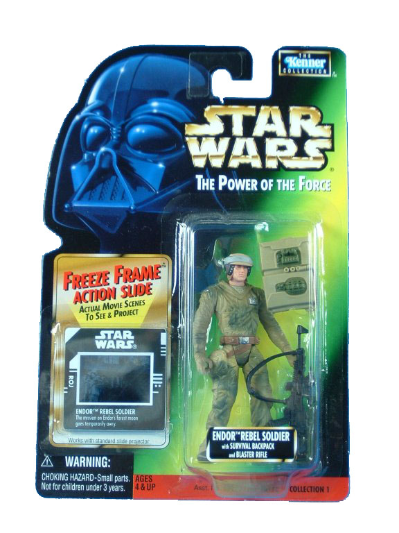 1998 Star Wars POTF2 ENDOR REBEL SOLDIER Complete