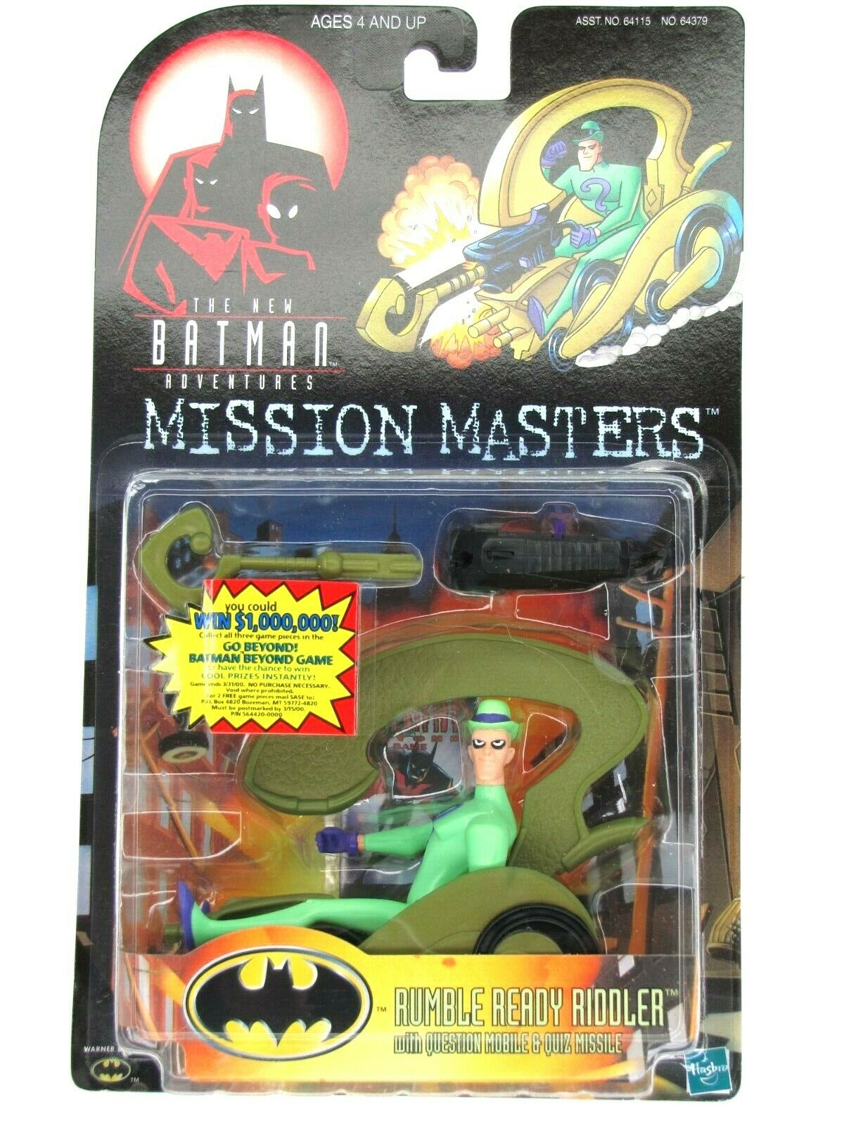 1999 Batman Mission Masters THE RIDDLER READY TO RUMBLE RIDDLER Mint on Card