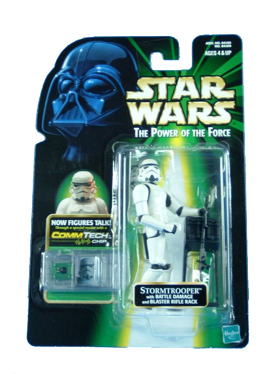 1999 Star Wars POTF2 STORMTROOPER BLASTER DAMAGE Variant