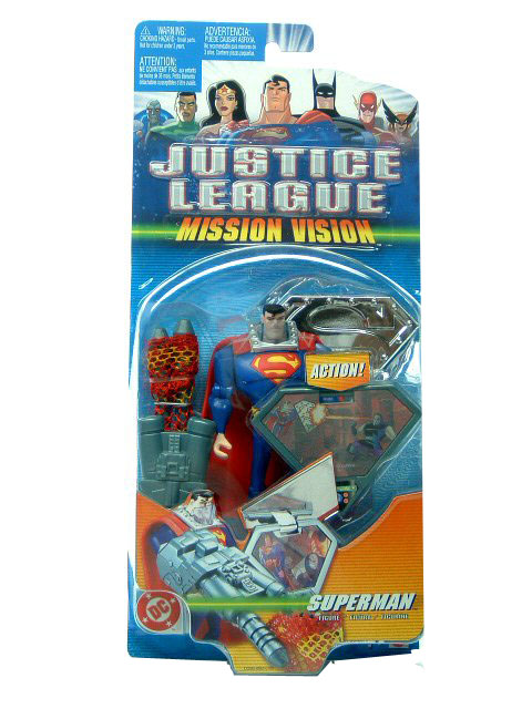 2004 Justice League Unlimited Mission Vision SUPERMAN Mint on Card