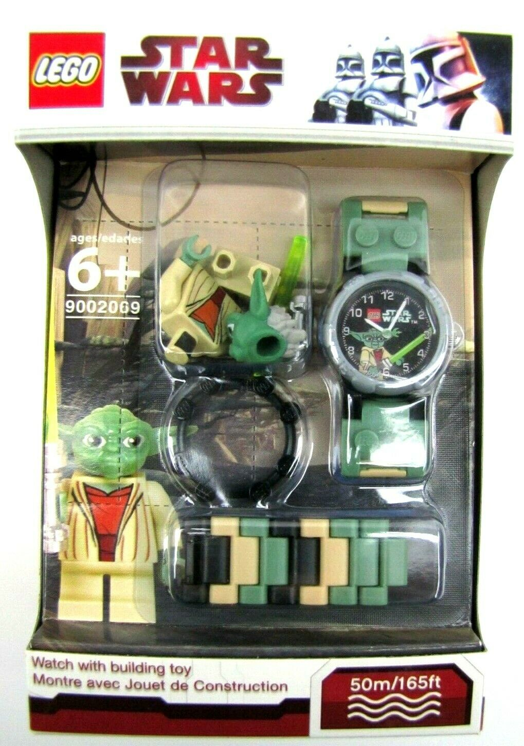 2010 Lego Star Wars Yoda Minifigure Watch NEW Lego Time 9002069