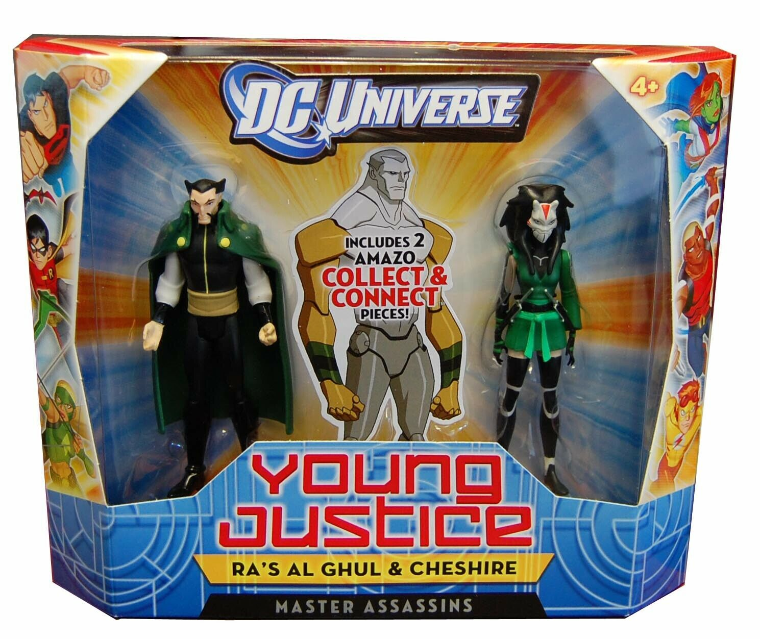 2011 DC Universe Young Justice Master Assassins RA'S AL GHUL & CHESHIRE Sealed