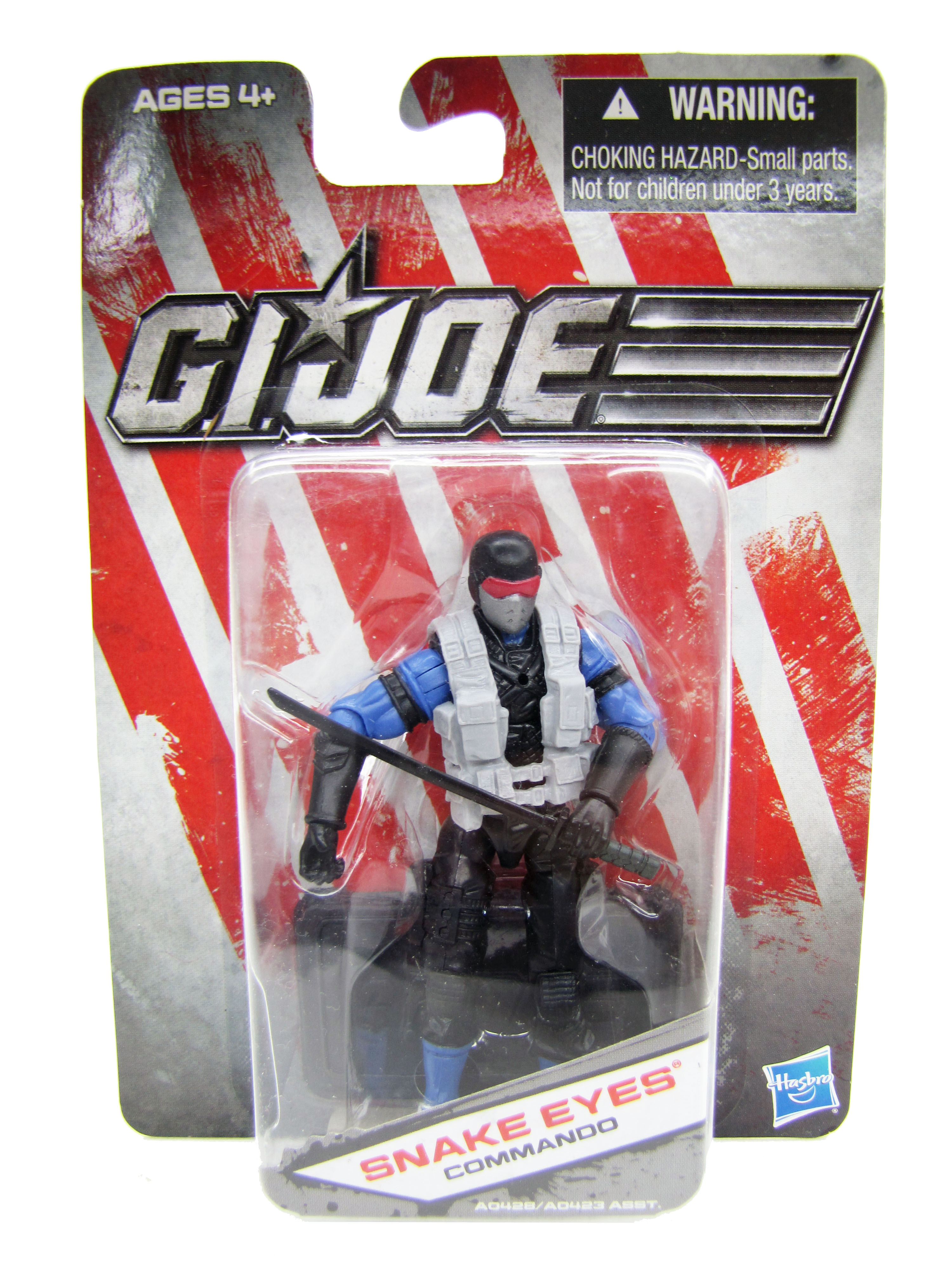 2012 GIJoe Dollar General Snake Eyes Commando Mint on Card