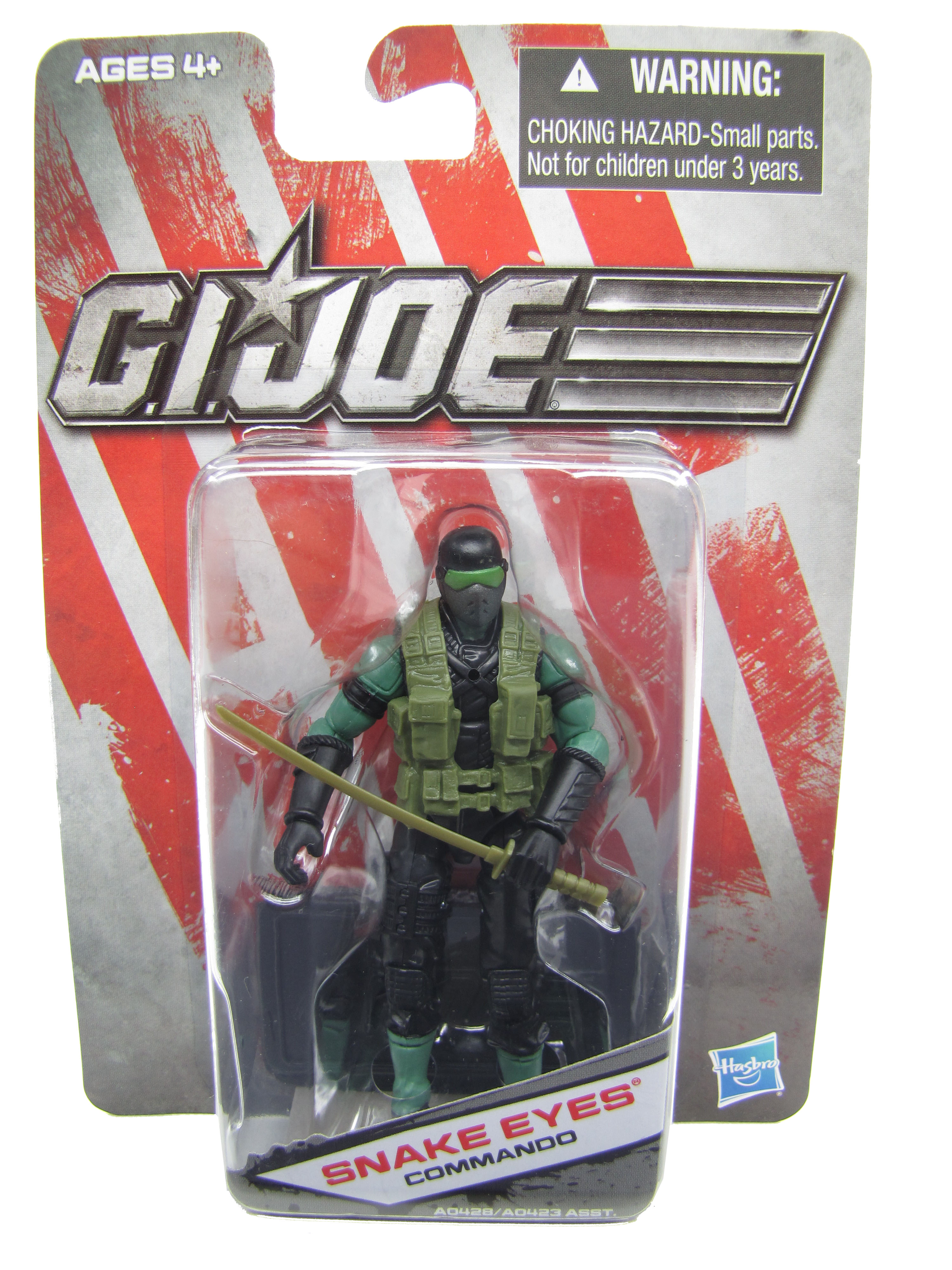 2013 GIJoe Dollar General Snake Eyes Commando Mint on Card