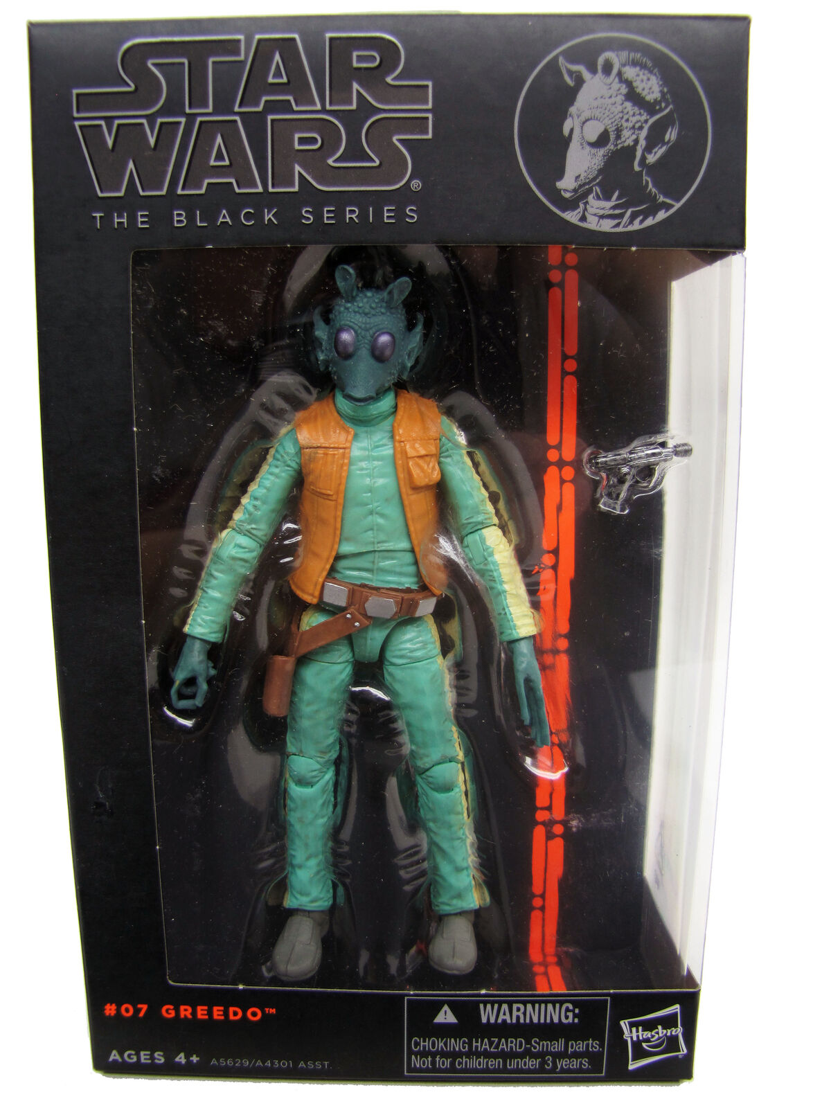 "2013 Star Wars Black Series 6"" #07 GREEDO Sealed NEW"