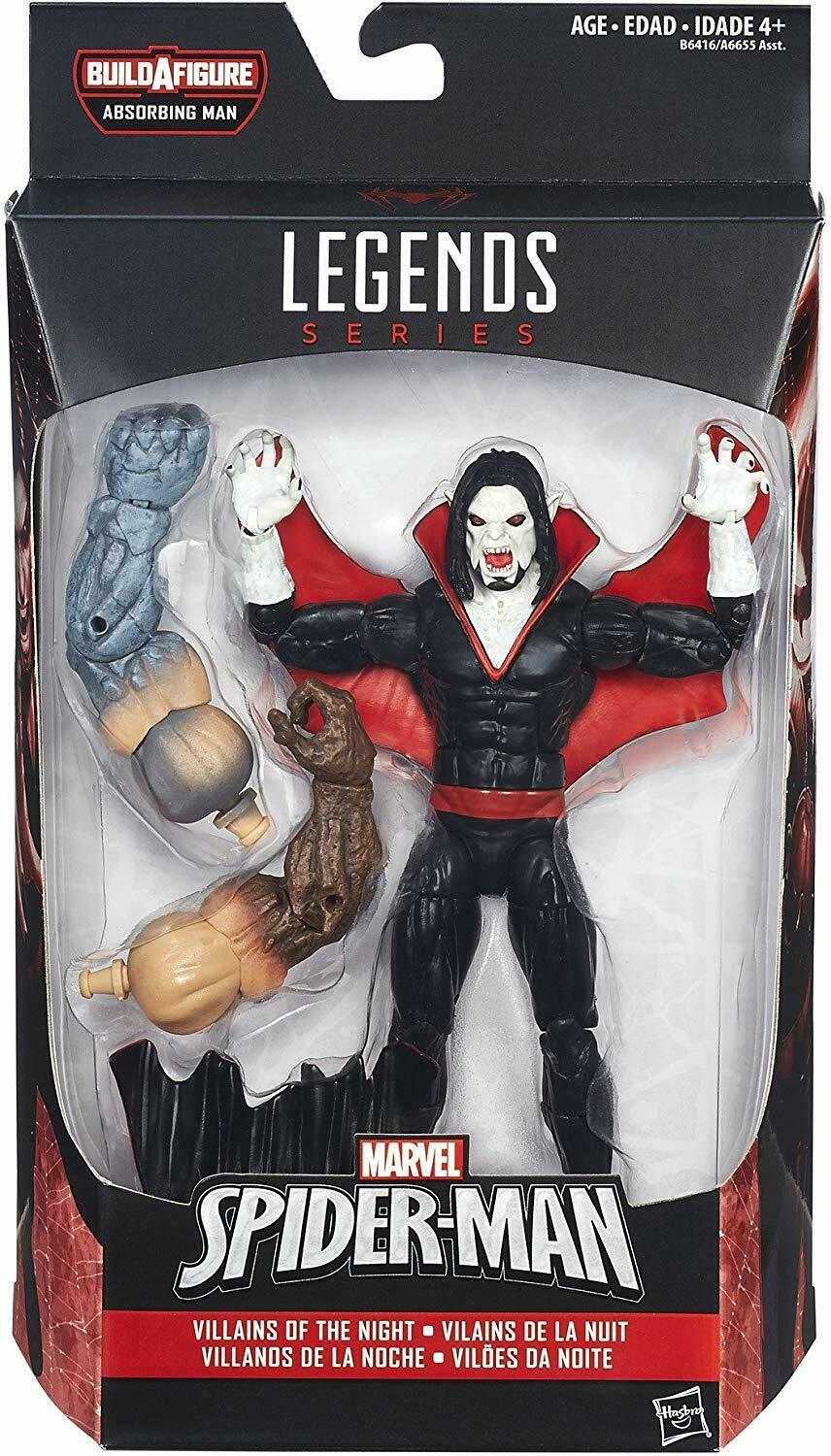 2016 Marvel Legends Villains of Night MORBIUS ABSORBING MAN Series Sealed NEW