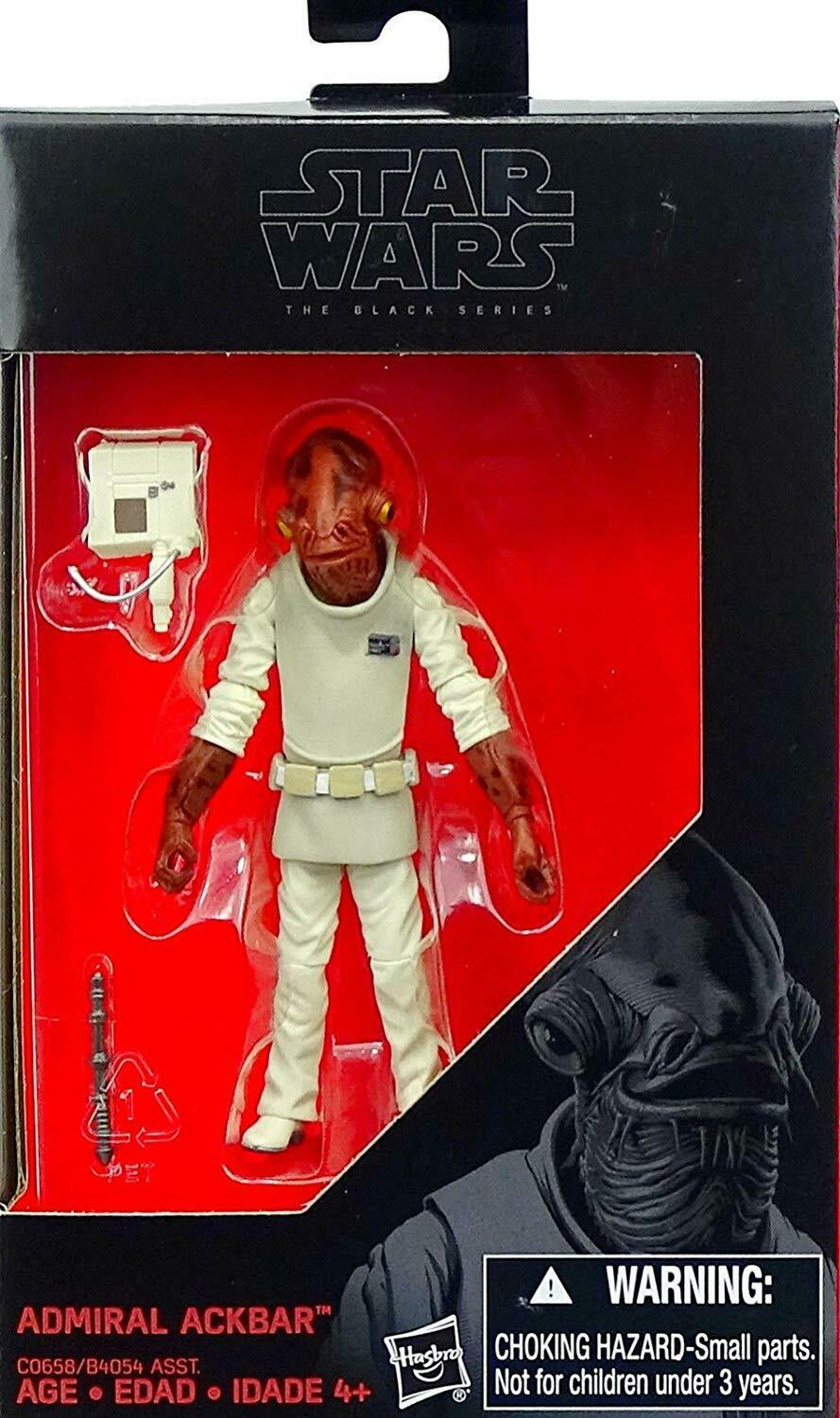 2016 Star Wars The Black Series ADMIRAL ACKBAR Return of the Jedi Sealed New