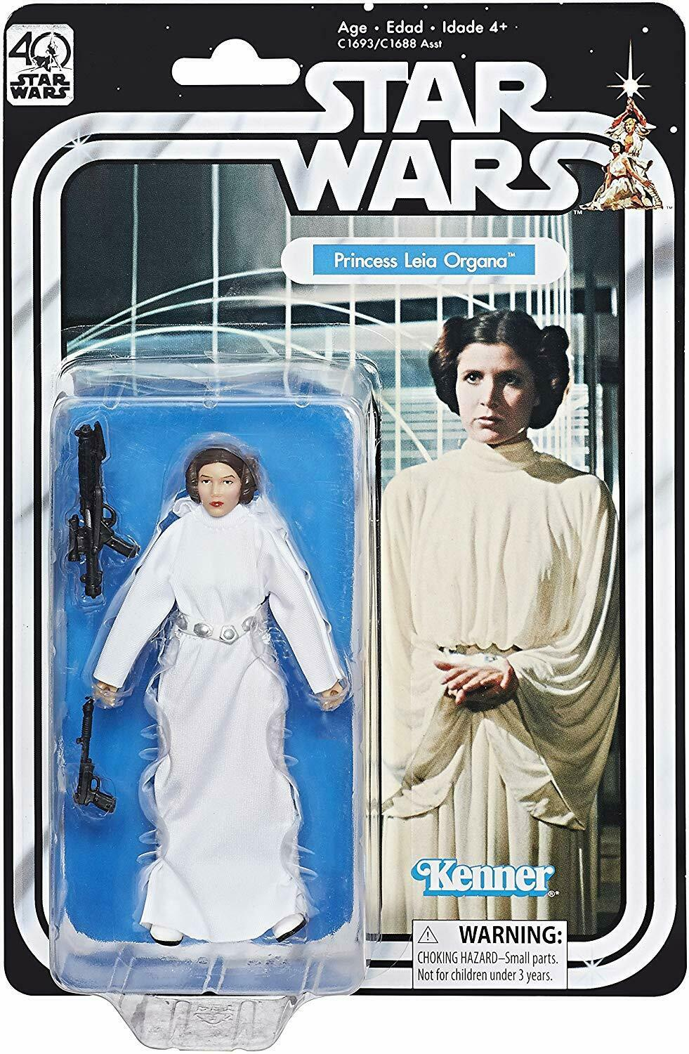 "2017 Star Wars Black Series 6"" 40th Anniversary PRINCESS LEIA Sealed NEW"