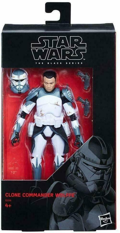 "2018 Star Wars Black Series 6"" CLONE COMMANDER WOLFFE The Clone Wars Sealed NEW"