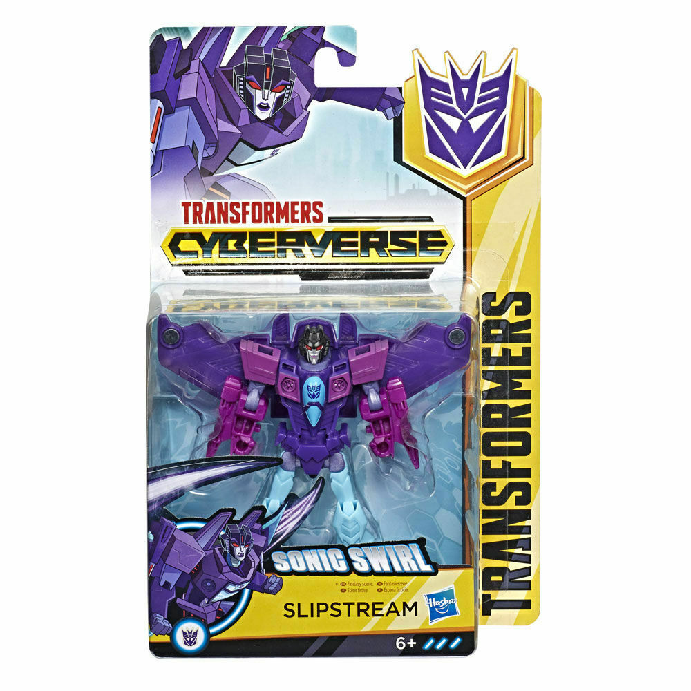 2019 Transformers Cyberverse Warrior Class SONIC SWIRL SLIPSTREAM Sealed NEW