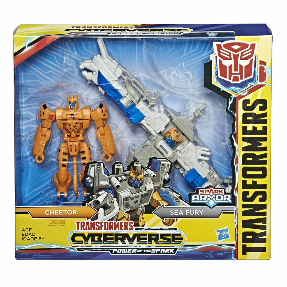 2019 Transformers Cyberverse Warrior Class SPARK ARMOR CHEETOR Sealed NEW