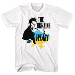 Seinfeld Kramer The Ukraine is Weak Officially Licensed White T-Shirt X-Large