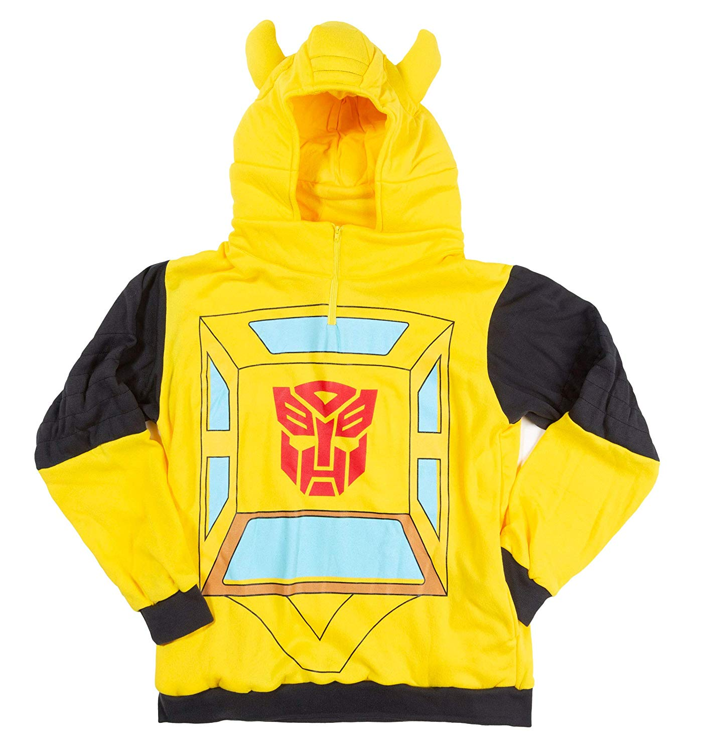 Transformers Bumblebee Costume Hoodie Yellow Officially Licensed Large