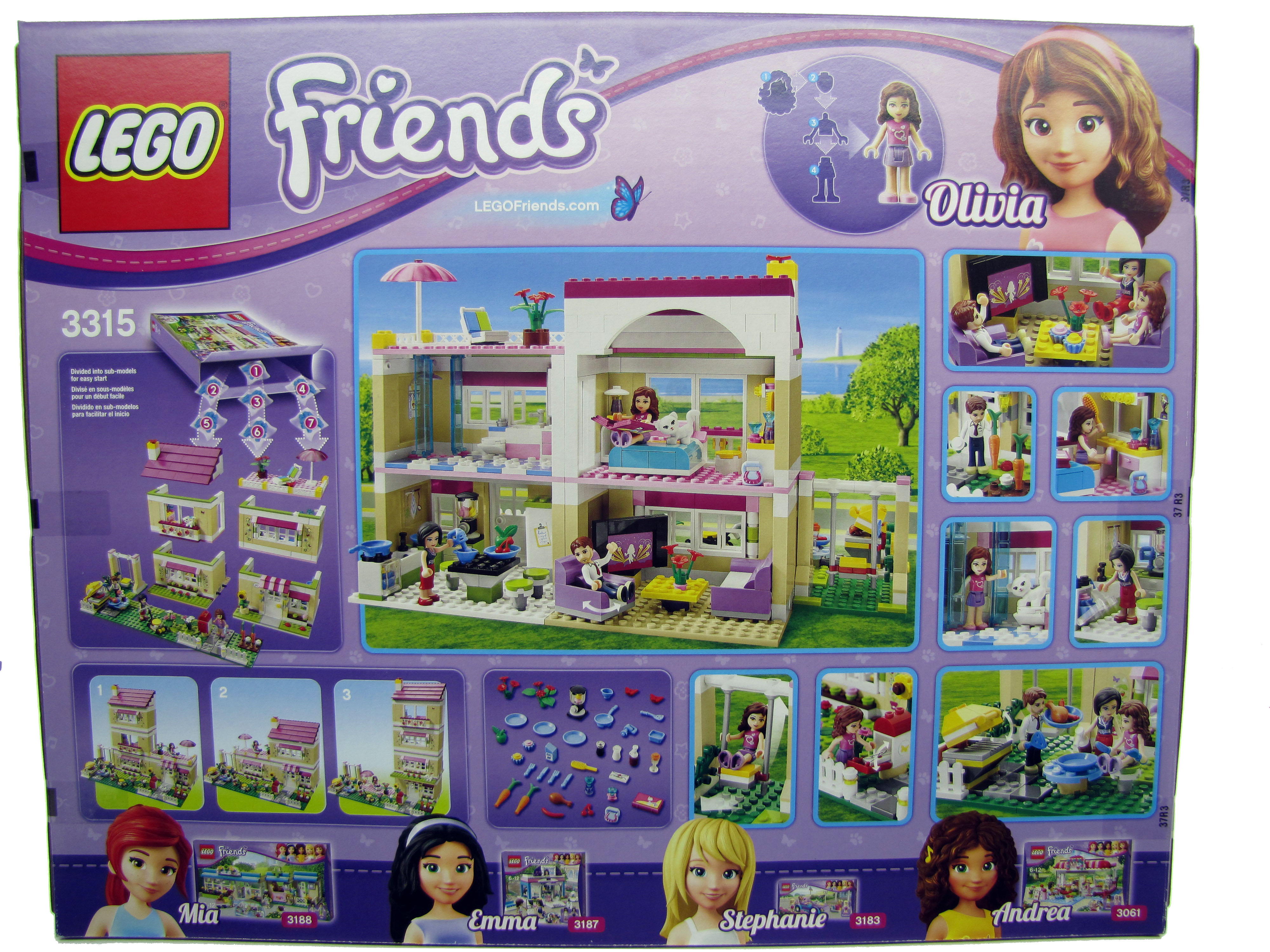 2012 LEGO Friends Olivia's House 3315 New Sealed in Box ...