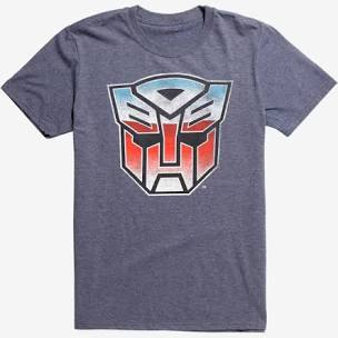 Transformers Autobot Logo Heather Charcoal Gray T-Shirt Medium