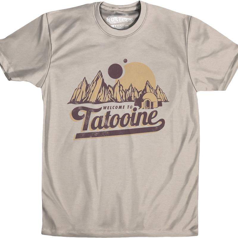 Star Wars Welcome To Tatooine Officially Licensed Sand T-Shirt Large