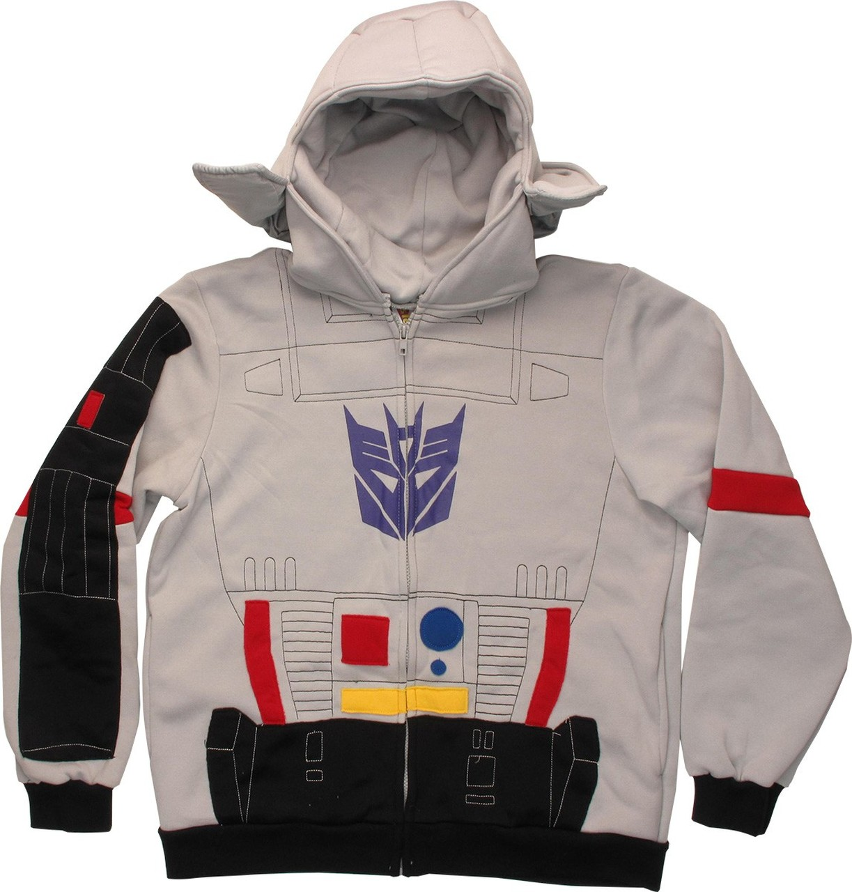 Transformers Megatron Costume Hoodie Gray Officially Licensed Large
