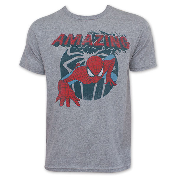 Marvel The Amazing Spider-Man Officially Licensed Gray Heather T-Shirt X-Large
