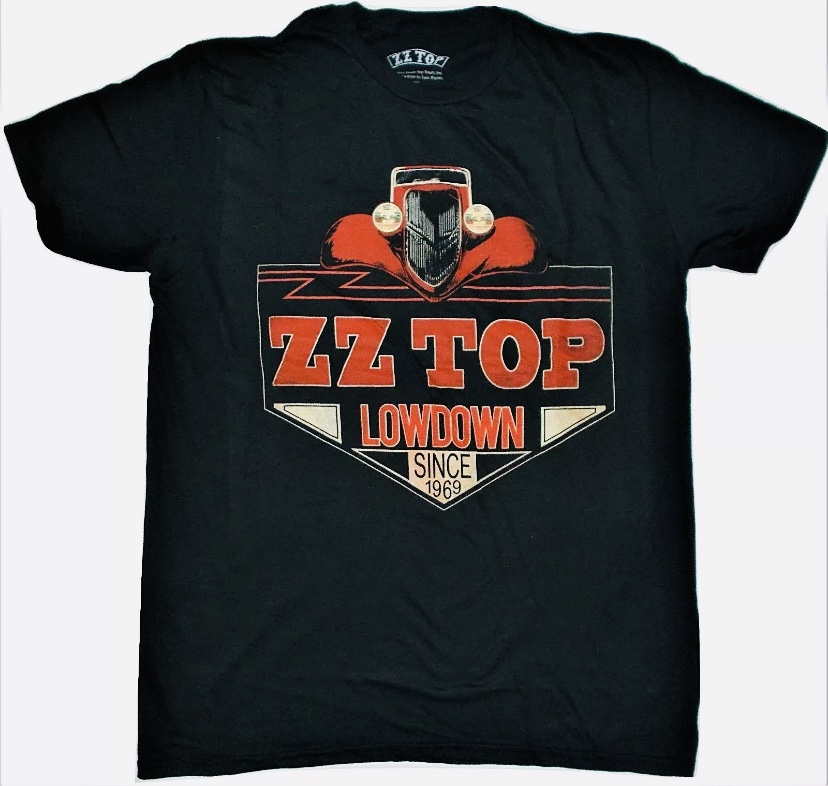 ZZ Top Officially Licensed Lowdown Since 1969 Men's Black T-Shirt Large