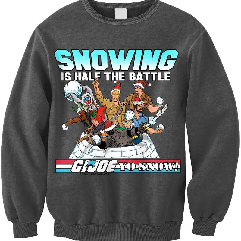 G.I.Joe Snowing is Half the Battle Officially Licensed Gray Sweatshirt Small