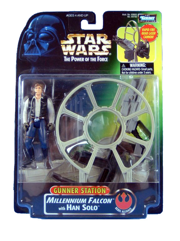 1997 Star Wars POTF2 MILLENNIUM FALCON with HAN SOLO Sealed