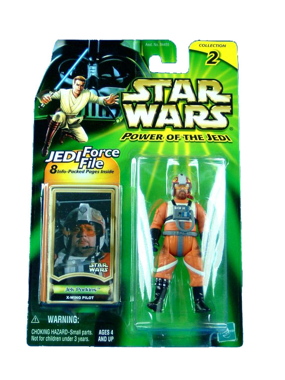 2000 Star Wars Power of the Jedi JEK PORKINS X-WING PILOT Sealed