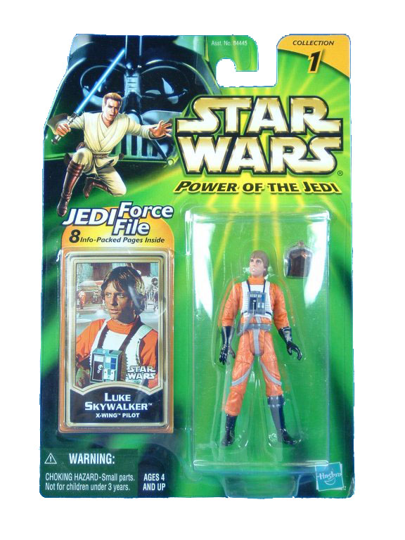 2001 Star Wars Power of the Jedi LUKE SKYWALKER X-WING PILOT MOC