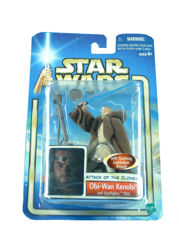 2002 Star Wars Saga OBI-WAN KENOBI JEDI STARFIGHTER PILOT Sealed