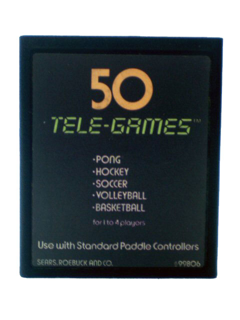 Atari 2600 50 Tele Games Pong Sports - 1977