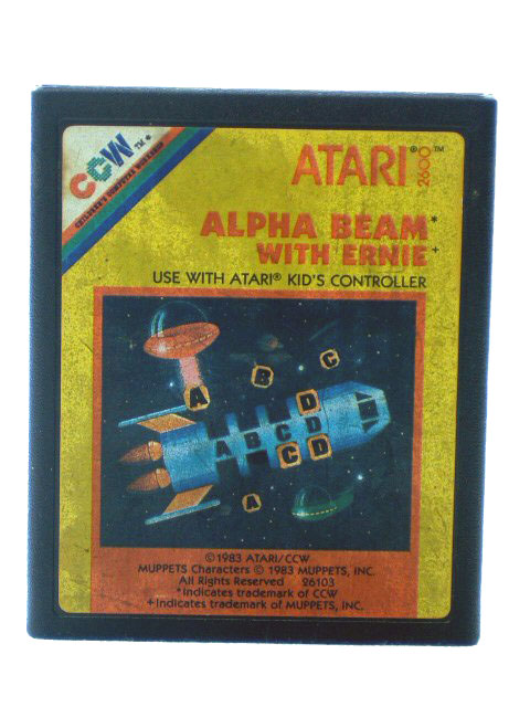 Atari 2600 Alpha Beam with Ernie - 1983