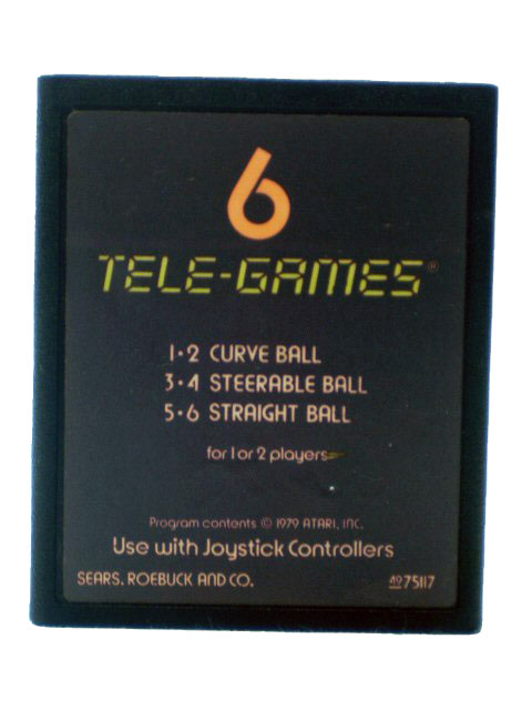 Atari 2600 Baseball 6 Tele Games - 1978
