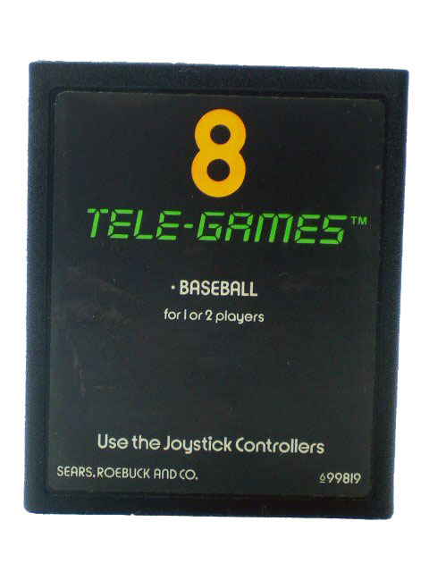 Atari 2600 Baseball 8 Tele Games - 1978