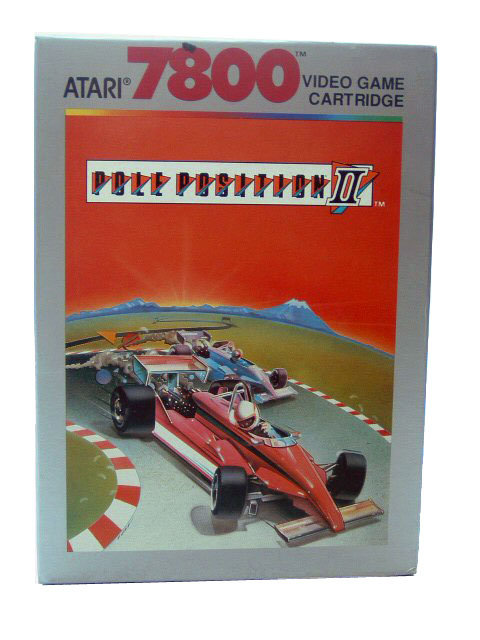 Atari 7800 Pole Position II Complete in Box - 1986