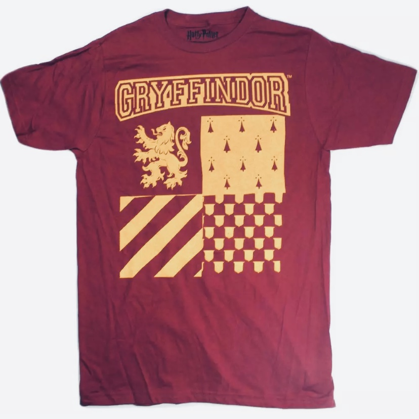 Harry Potter Hogwarts School Gryffindor Logo Men's Burgundy Maroon T-Shirt MED