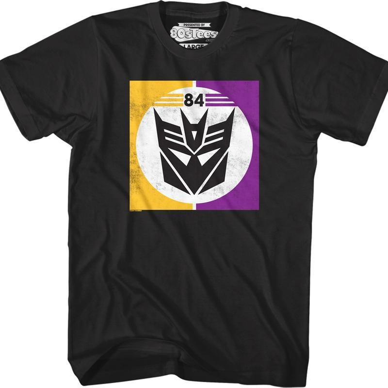 Transformers Decepticon 84 Logo Black T-Shirt Medium