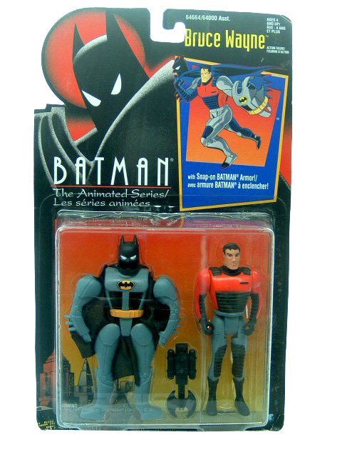 Batman The Animated Series Bruce Wayne Canadian Mint on Card