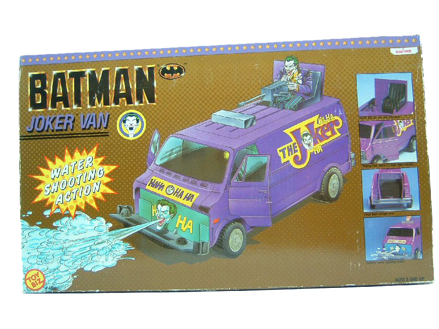 1989 Toy Biz BATMAN Collection JOKER VAN Sealed